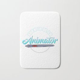 Cute Born To Be An Animator Professional Animating Bath Mat