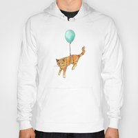 baloon Hoodies featuring The cat and the baloon by Nemimakeit