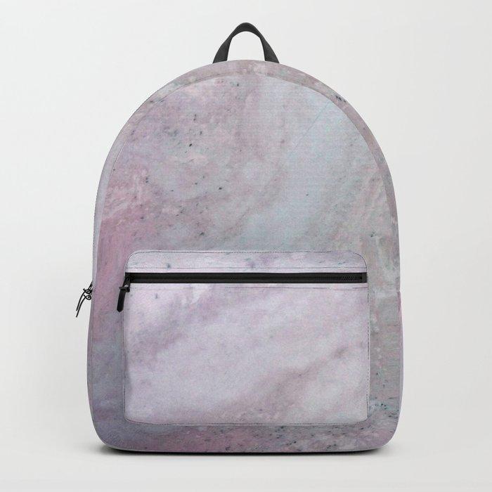 Elegant Pink Polished Marble Backpack
