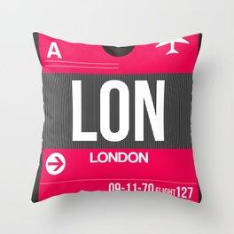 LON London Luggage Tag 2 Throw Pillow
