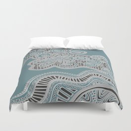Just a Squiggle Here and There Duvet Cover