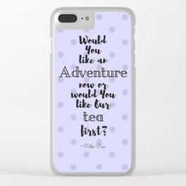 Tea & Adventures Clear iPhone Case