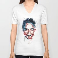 obama V-neck T-shirts featuring Obama by I AM DIMITRI