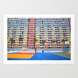 Choi Hung Estate, Hong Kong Art Print