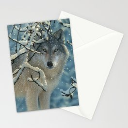Wolf in Snow - Broken Silence Stationery Cards