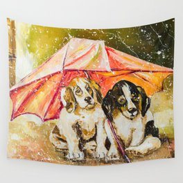 LOST IN THE RAIN Wall Tapestry