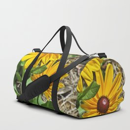 Black-eyed Susans and a Busy Bee Duffle Bag