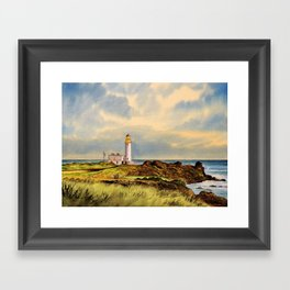 Turnberry Golf Course Scotland 9th Tee Framed Art Print