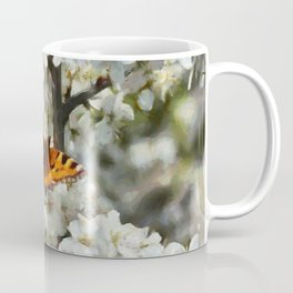 Butterfly on Blossom Coffee Mug