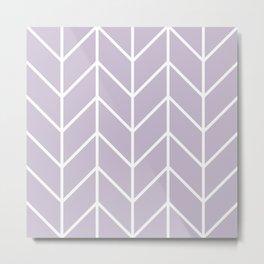 Herringbone Chevron (Lilac) Metal Print