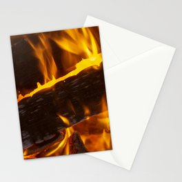 Warming Fire Stationery Cards