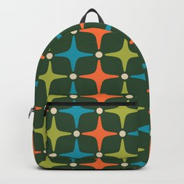 Mid Century Modern Star Pattern 934 Backpack