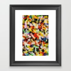 Starry halftone Framed Art Print