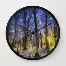 The Forest Van Gogh Wall Clock