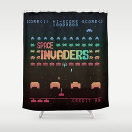 Invader Space Shower Curtain