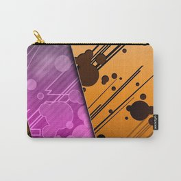 Lines Color Stripes Patterns Orange and Purple Carry-All Pouch