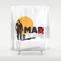 mad max Shower Curtains featuring Mad Max  fan poster by danimo