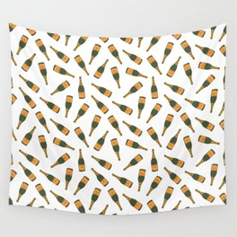 Champagne Bottle Pattern Wall Tapestry