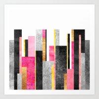 skyline Art Prints featuring Skyline by Elisabeth Fredriksson