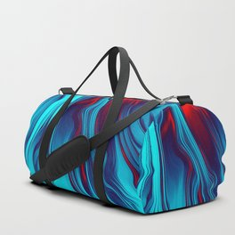 Teal With Red, Streaming Duffle Bag