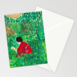 Person Among Plants Stationery Cards
