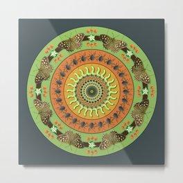 Nature Mandala - Insects Metal Print