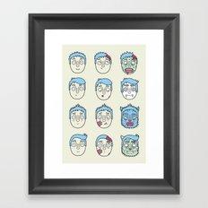 Monster Mash Up Framed Art Print