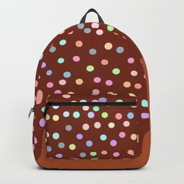 Dripping Melted chocolate Glaze with sprinkles Backpack