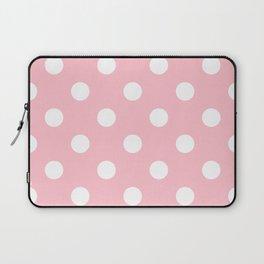 Polka Dots - White on Pink Laptop Sleeve