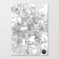 berlin Canvas Prints featuring BERLIN by Maps Factory