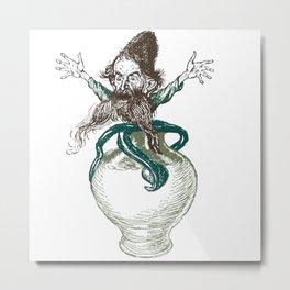 Pot Goblin Metal Print