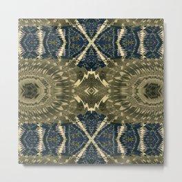 Vividly Mainly Bicolor Pattern 1 Metal Print