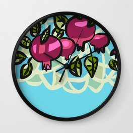 Ripe Pomegranates Wall Clock