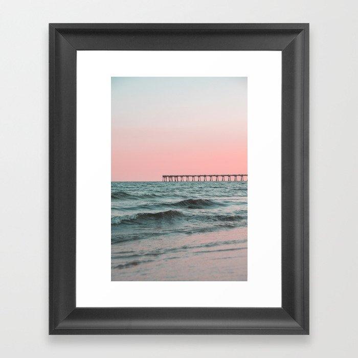 Pink Ocean Gerahmter Kunstdruck
