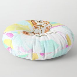 BETTY ON ABSTRACT Floor Pillow