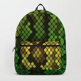 Yellow/Green Snake Skin Backpack
