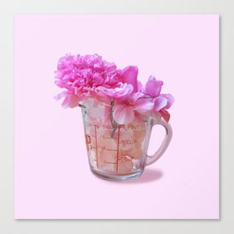 Cup of Flower Canvas Print