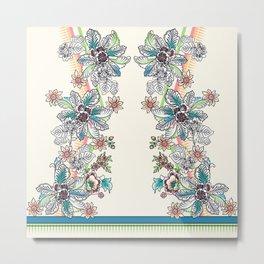 Wire Floral Metal Print