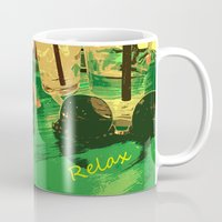 relax Mugs featuring Relax by Geni