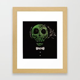 Ghost In The Mirror Acrylic Painting Framed Art Print