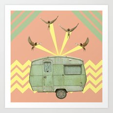 The best way to travel Art Print