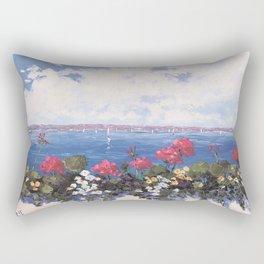 Geraniums by the Bay Rectangular Pillow
