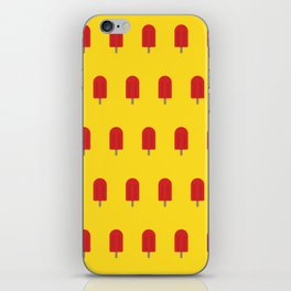 Red Popsicles - Yellow Background iPhone Skin