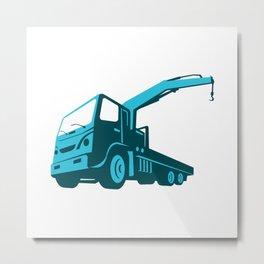 truck crane cartage hoist retro Metal Print