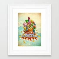 smash bros Framed Art Prints featuring Smash! by Jesse Musto