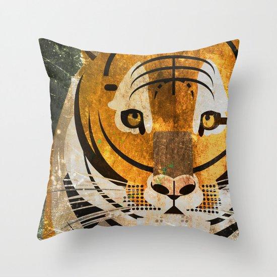 Tiger 2 Throw Pillow