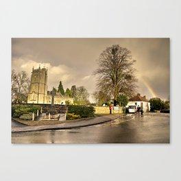 Church Rainbow  Canvas Print