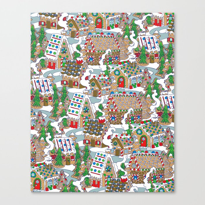 Gingerbread Village Canvas Print