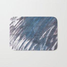 Charcoal abstract watercolor Bath Mat