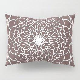 WHITE MANDALA Pillow Sham